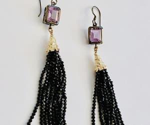 etsy, amethyst earrings, and elegant earrings image