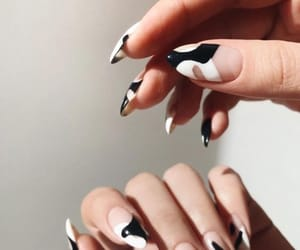 girl, nails, and stiletto nails image