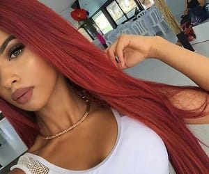 hair, beauty, and red image