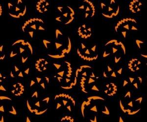 Halloween, wallpaper, and pumpkin image