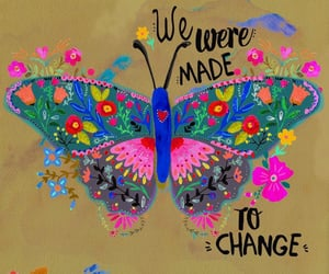 butterfly and change image