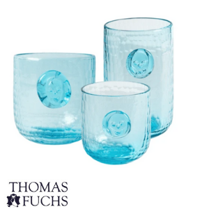 article, blue glass drinking, and drinking glass set 4 image