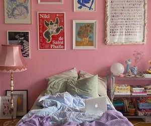 aesthetic, bed, and room image