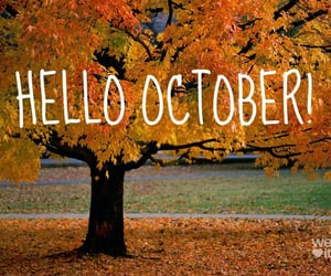 october and hello image
