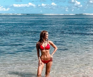 abs, beach, and fit image