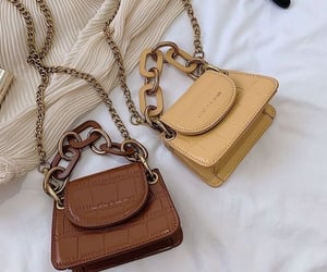 bag, brown, and beige image