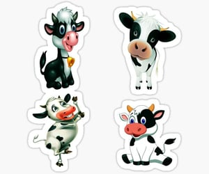 pet, cute strawberry cow, and strawberry cows image