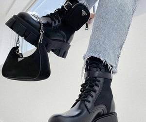 combat boots, fashion, and footwear image