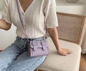 aesthetic, lilac, and look image