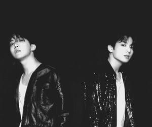 black, kpop, and jungkook image