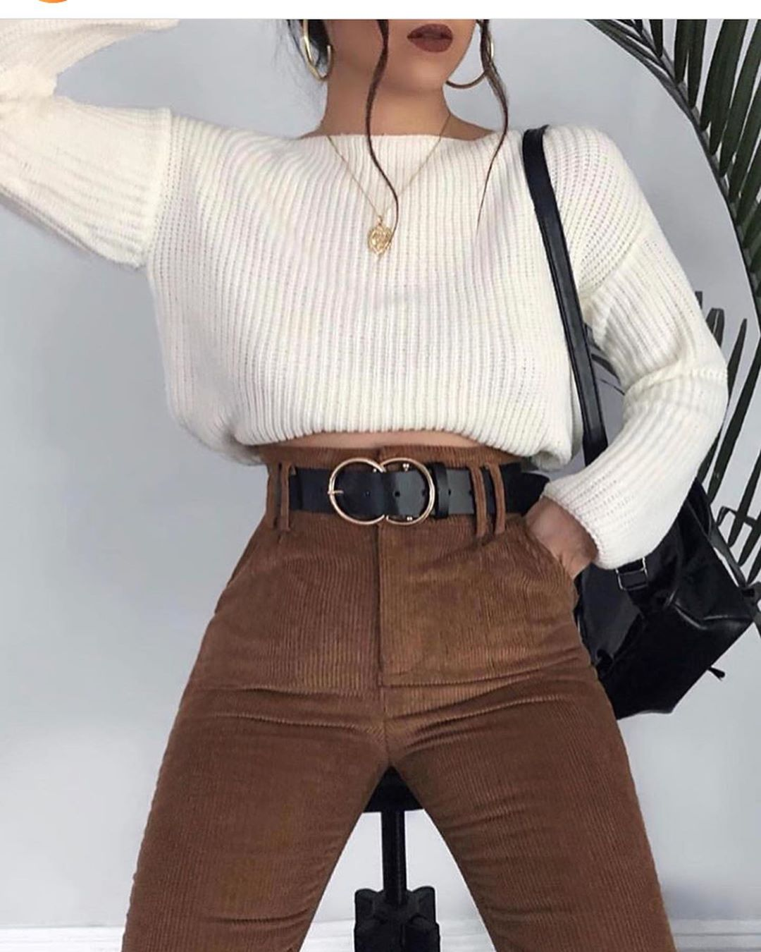 fashion, outfit, and brown image