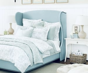 bed, blue, and نوم image
