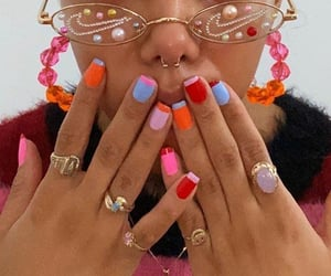 funky, glasses, and nailart image