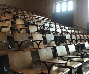 academia, brown, and classroom image