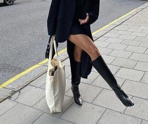 knee high boots, black blazer, and fashionista fashionable image