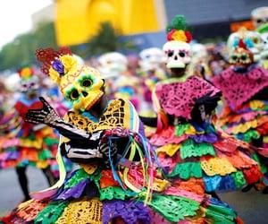 color, cultura, and dia de muertos image