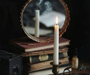 candle, aesthetic, and books image
