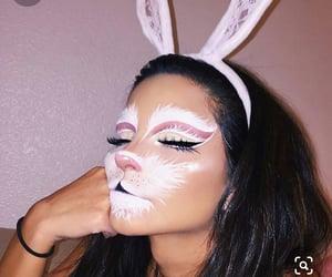 Halloween, bunny, and makeup image