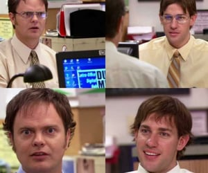 dwight schrute, jim halpert, and the office image