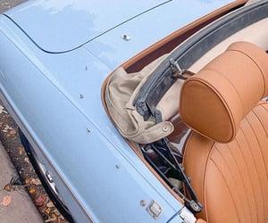 blue car, old car, and old timer image