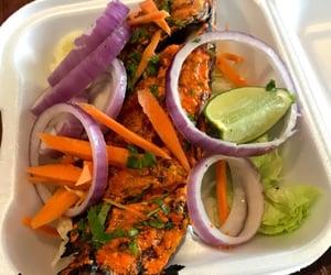 dish, lemon, and seafood image