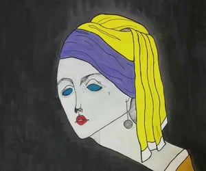 art, draw, and Girl with a Pearl Earring image