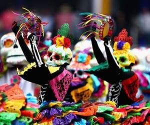 color, dia de muertos, and cultura image