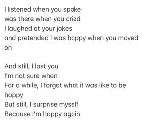 goodbye, happy, and heartbreak image