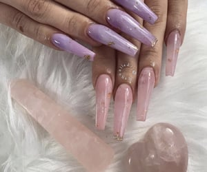 @kaynailedit purple jade + rose quartz