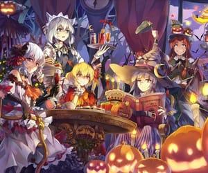 anime, Halloween, and wallpaper image