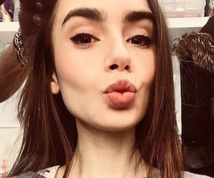 actress, lily collins, and makeup image
