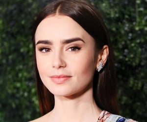 actress, lily collins, and jewelry image