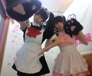 maid, girl, and cute image