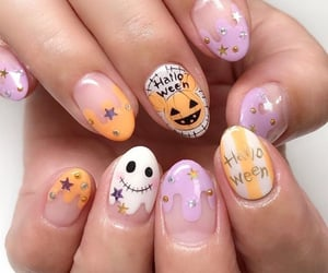 nails, manicure, and halloween nails image