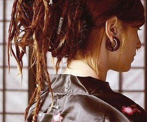 dreads, girl, and piercing image