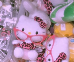 hello kitty, kawaii, and puppet image