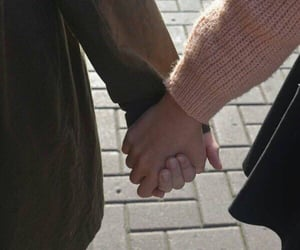 aesthetic, couple, and holding hands image