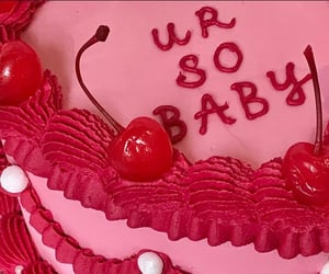 cake, pink, and red image