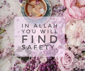 aesthetic, allah, and floral image