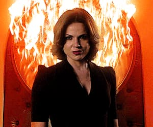 gif, once upon a time, and the evil queen image