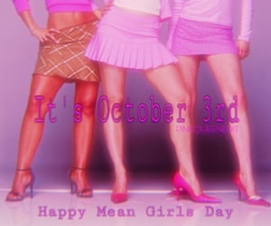 pink, meangirlsday, and meangirls image