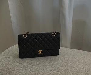 chanel, black chanel bag, and designer brand image