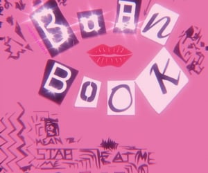burn book, pink, and meangirlsday image