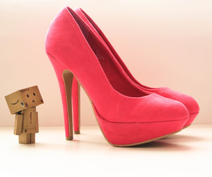 shoes, pink, and danbo image