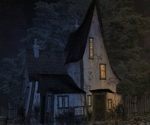 house and witch image