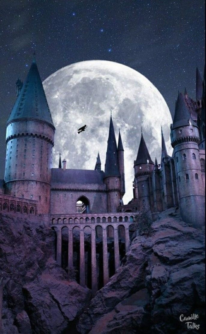 autumn, castle, and gryffindor image