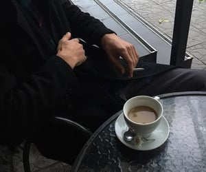coffee, black, and aesthetic image