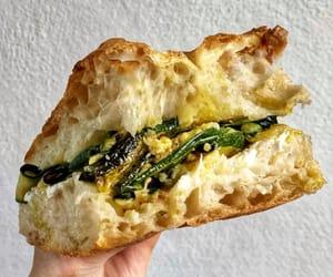 ricotta cheese, sandwich, and focaccia bread image