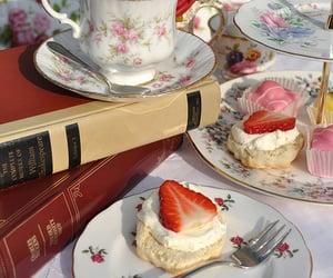 tea, books, and rose image