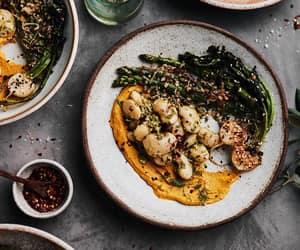asparagus, bean, and hummus image